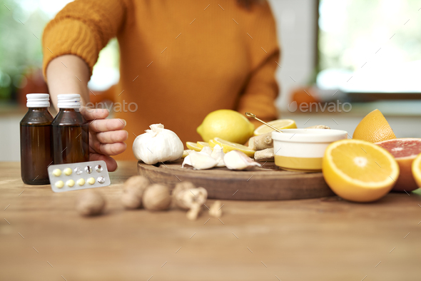 Natural medicine make you are healthier - Stock Photo - Images