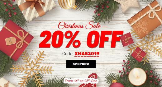 Christmas Sale! 20% OFF on Hi-quality Premium Magento 2 Themes