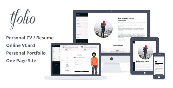 Tfolio - Personal Portfolio & CV / Resume Site Template