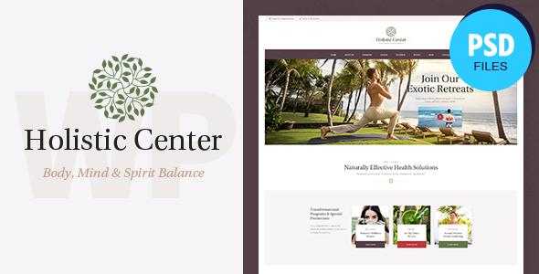 Holistic Center   Wellness & Spa Salon PSD Template