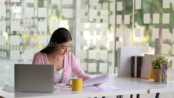 Young business women are planning work for next year on office desk with coffee in a modern office. - Stock Photo - Images