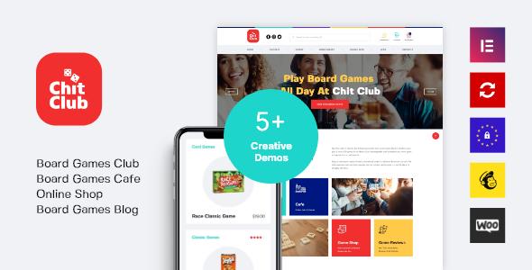 Chit Club | Board Games Club & Anticafe WordPress Theme