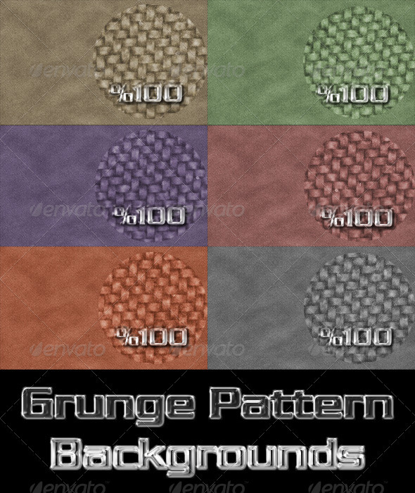 6 Grunge Pattern Backrgounds - Backgrounds Graphics