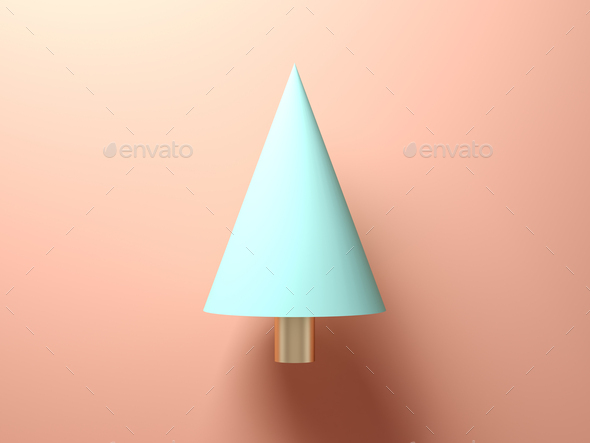 Abstract christmas tree on pink background - Stock Photo - Images