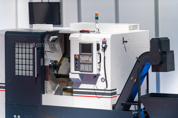 CNC automated manufacturing machine - Stock Photo - Images