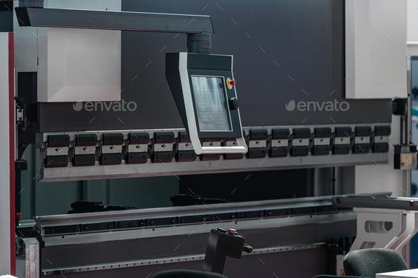 CNC Servo Drive Turret Punch Metal Press Machine - Stock Photo - Images