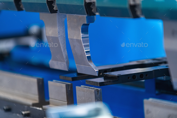 Metal Press Brake, Servo Bending Machine - Stock Photo - Images
