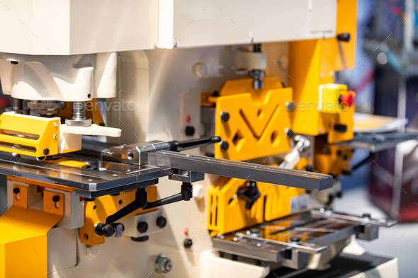 Punching steelworker machine - Stock Photo - Images
