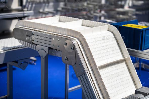 Industrial Conveyor Belt Roller Track System - Stock Photo - Images