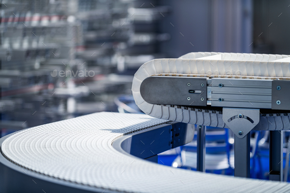 Industrial Manufacturing Conveyor Belt Roller Track System - Stock Photo - Images