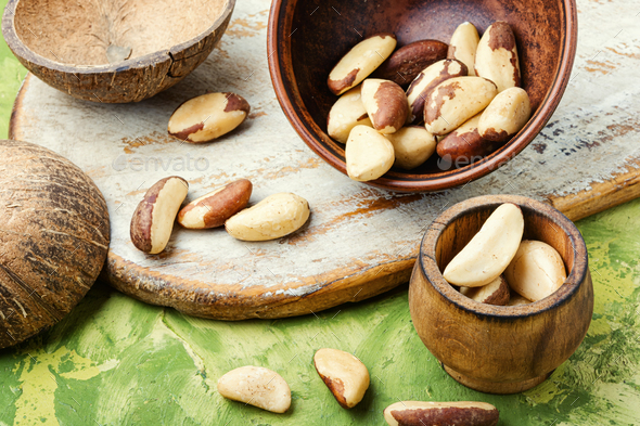 Brazil nut or bertholletia - Stock Photo - Images