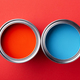 Two Cans of Paint. Red and Blue. - PhotoDune Item for Sale