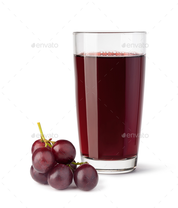 glass of grape juice - Stock Photo - Images