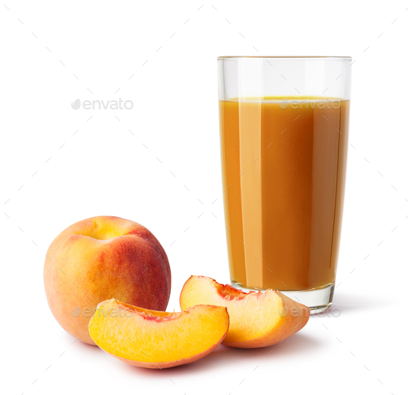 glass of peach juice - Stock Photo - Images