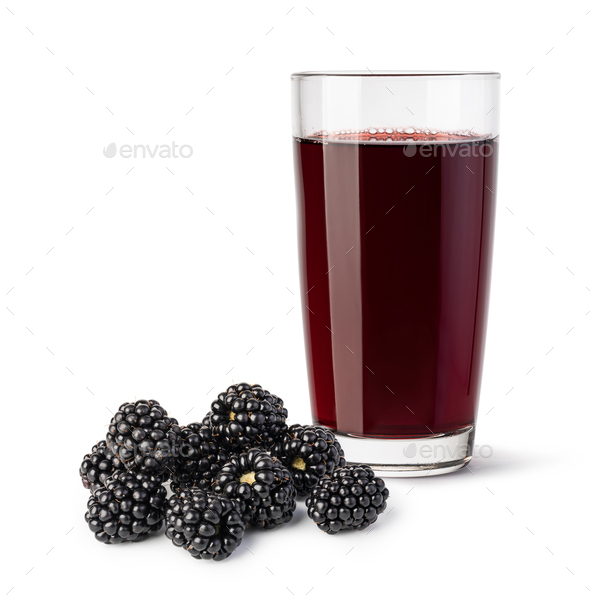 glass of blackberry juice - Stock Photo - Images