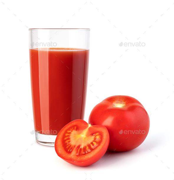 glass of tomato juice - Stock Photo - Images
