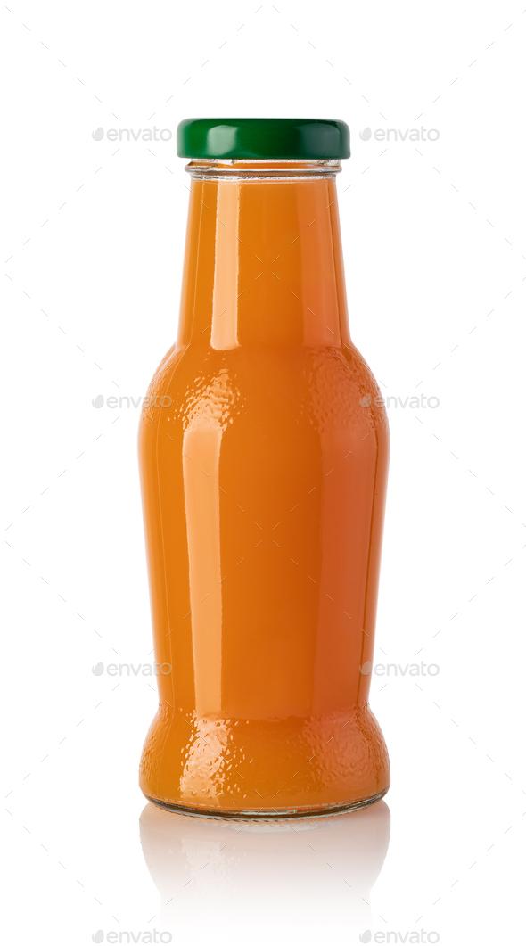 bottle of orange juice - Stock Photo - Images
