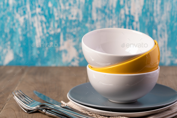 plate and cutlery - Stock Photo - Images