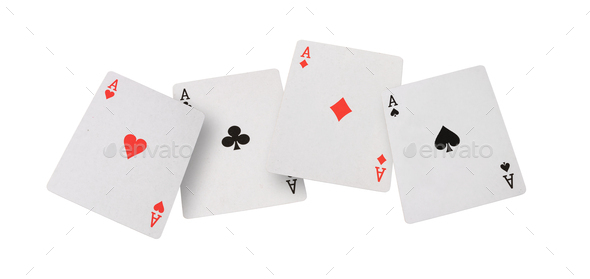 playing cards on white background - Stock Photo - Images