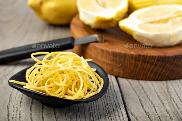 lemon zest - Stock Photo - Images