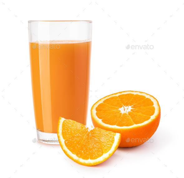 glass of orange juice - Stock Photo - Images
