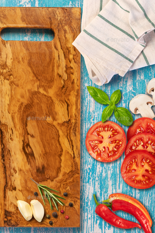 Food background with free space for text - Stock Photo - Images