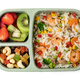 Lunch box with delicious food on a white background - PhotoDune Item for Sale