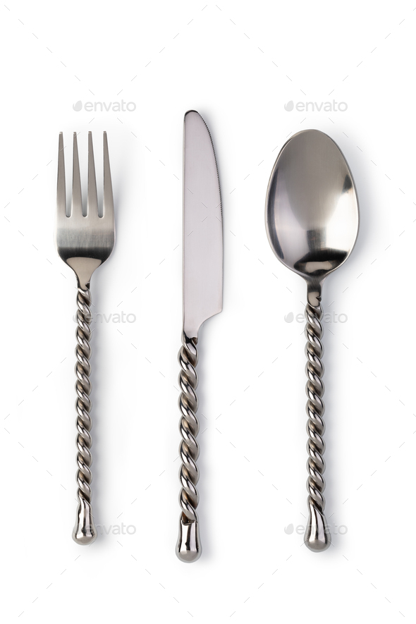 Fork, Knife and Spoon - Stock Photo - Images