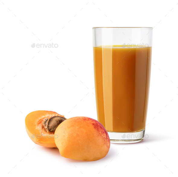 glass of mango apricot - Stock Photo - Images