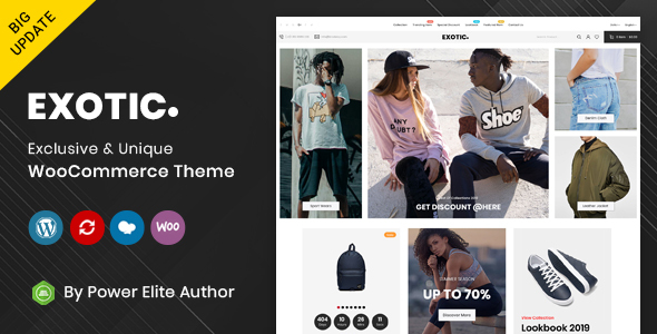 Exotic - Responsive WooCommerce Theme