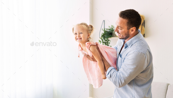 Father spending time with his little girl - Stock Photo - Images