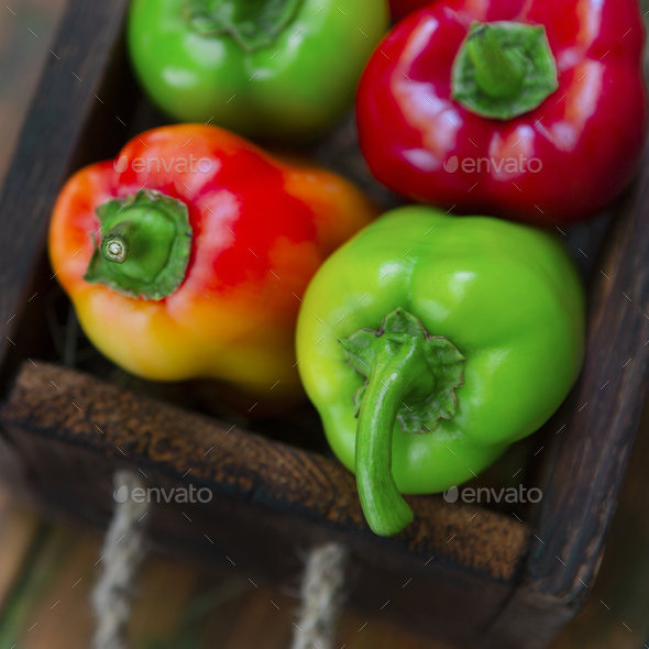 Close up of organic and clean sweet pepper - Stock Photo - Images