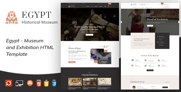Egypt - Museum and Artists HTML Template