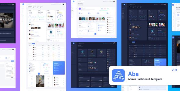 Aba - Responsive Bootstrap 4 Admin Template by zarko-m
