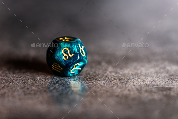 Astrology Dice with zodiac symbol of Leo - Stock Photo - Images