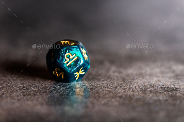 Astrology Dice with zodiac symbol of Libra - Stock Photo - Images