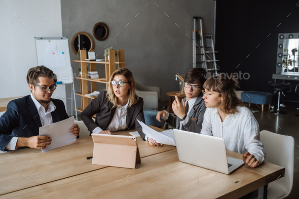 Startup Diversity Teamwork Brainstorming Meeting Concept. People Planning - Stock Photo - Images
