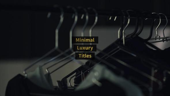Minimal Luxury Titles | Essential Graphics