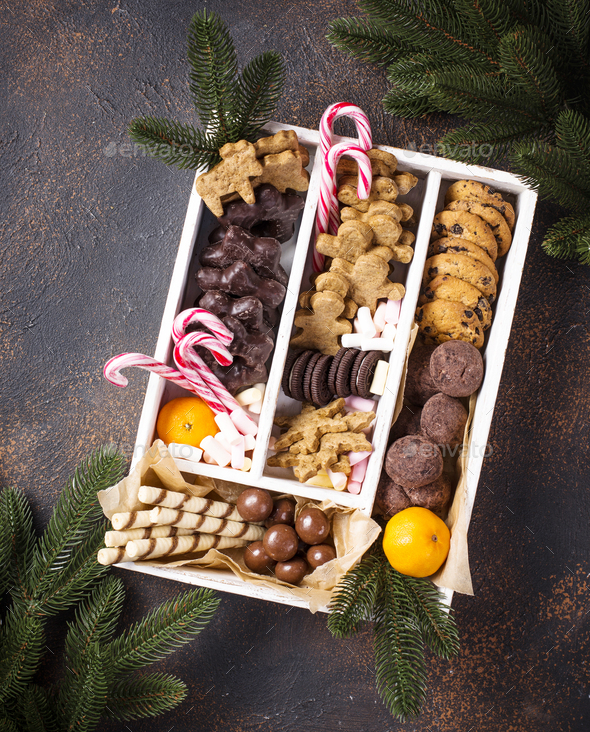 Set of various Christmas cookies - Stock Photo - Images