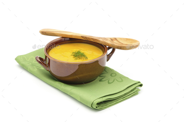 Carrot Dill with Spoon - Stock Photo - Images
