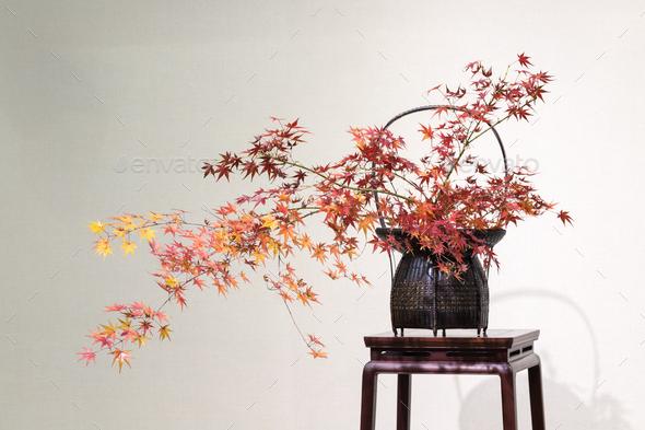 oriental style flower arrangement - Stock Photo - Images