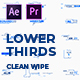 Clean Wipe Lower Thirds | MOGRT - VideoHive Item for Sale