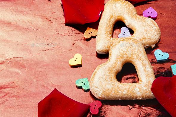 Homemade valentine cookies - Stock Photo - Images