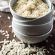 Uncooked indian long rice in bowl. - PhotoDune Item for Sale