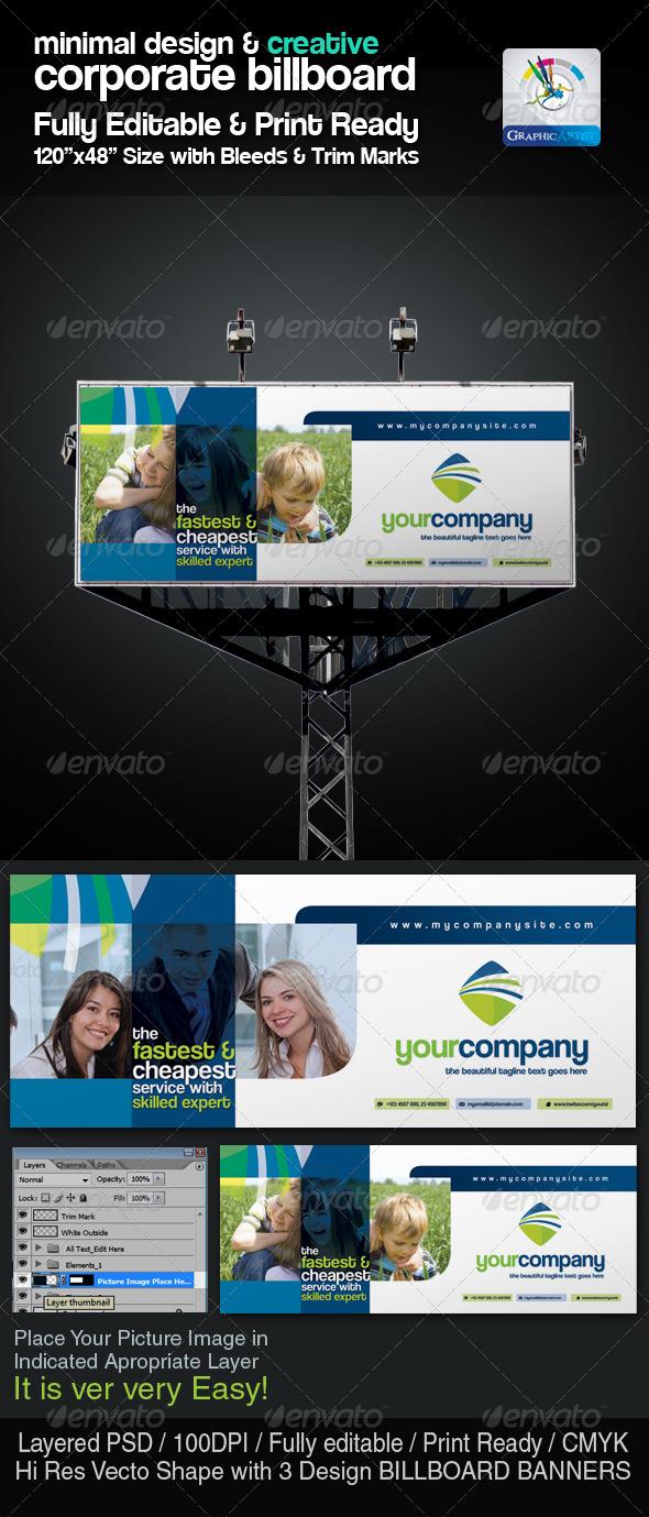 Minimal & Creative Corporate Billboard - Signage Print Templates