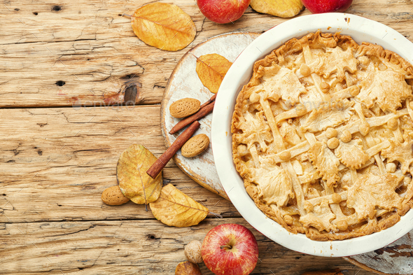 Traditional apple pie. - Stock Photo - Images