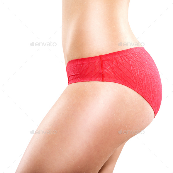 sexy body of young sporty and healthy woman, lingerie - Stock Photo - Images