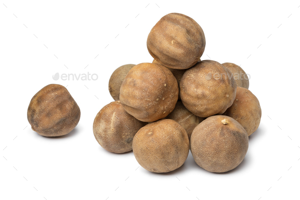 Heap of dried whole white limes - Stock Photo - Images