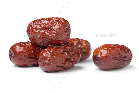 Heap of Chinese red dates - Stock Photo - Images
