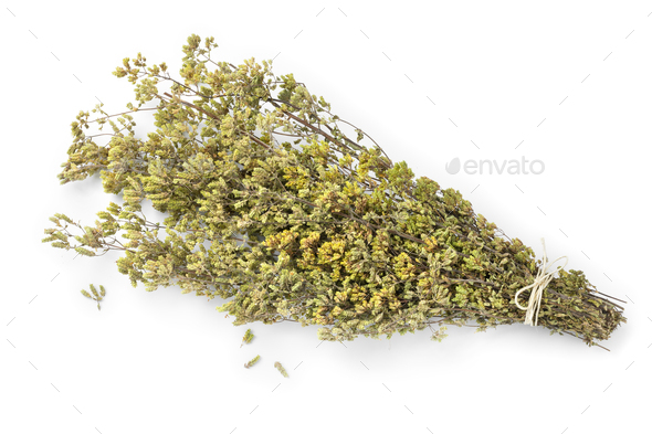 Bouquet of dried greek oregano - Stock Photo - Images